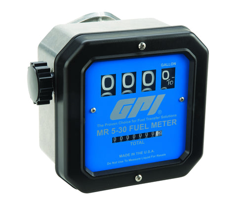 GPI 126300-43 MR5-30-G8N FUEL METER MECHANICAL - UP TO 30 GPM EA