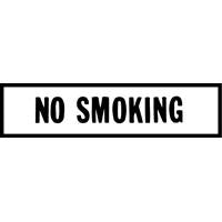 NO SMOKING DECAL RED ON WHITE 6 INCH LETTERS