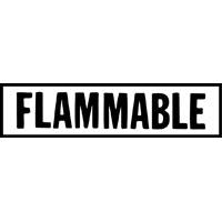 FLAMMABLE DECAL RED ON WHITE 6 INCH LETTERS
