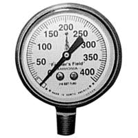 "PRESSURE GAUGE 0-400 PSI,FOR NH3,2-1/2"" FACE,SS CASE,1/4"""