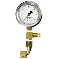 PRESTO-TAP 30 PSI LOW PRES GAUGE W/ BLEEDER VAL,90 DEGREE