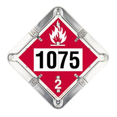 FLIP PLACARD, METAL, 1075 Your P# 22-HH
