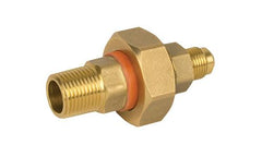 "BRASS DIELECTRIC UNION 1/2""MIP X 3/8"" FLARE"
