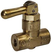 "QUICK ACTING VALVE WITH LOCKIN HANDLE 1/2"" F. NPT INLET X 1/4"