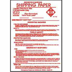 1075 CYLINDER SHIPPING PAPERS