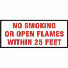 VINYL NO SMOKING/OPEN FLAMES