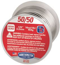 WIRE SOLDER 50/50, 1 LB. ROLL
