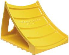 WHEEL CHOCK BLOCK CAST ALM- SAFETY YELLOW