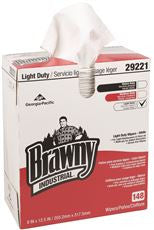 BRAWNY INDUSTRIAL® LIGHT DUTY 2-PLY WIPERS,8 INX 12.5 IN