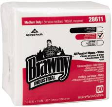 BRAWNY INDUSTRIAL® AIRLAID 1/4 FOLD WIPERS