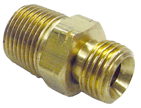3/8 MPTx9/16 LH hose connectr (ME24E)