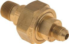 SPACE-SAVER DIELEC UNION,1/2 INMNPTX3/8 INM FL,BRASS