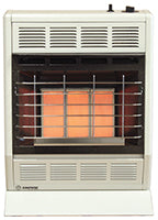 WHITE 18K BTU HEATER INFRARED THERMOSTAT SETTING