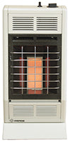 WHITE 6K BTU HEATER INFRARED MANUAL SETTING