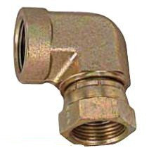"1 1/2"" FPT X 1 1/2"" FPT swivel 90 degree elbow connector"