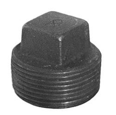 "PLUG-SQ HEAD 3/8"" SCH 40 BLACK IRON"