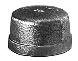 "CAP-1-1/2"" SCH 40 BLACK IRON"