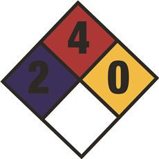 2-4-0 DIAMOND WARNING DECAL,10-3/4 INX 10-3/4 IN
