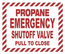 LP EMERGENCY SHUTOFF VLV PULL TO CLOSE DECAL,5 INX 6 IN