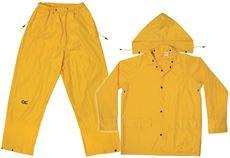 CLC® 3-PIECE MEDIUM-WEIGHT YELLOW POLY RAIN SUIT SIZE LAR
