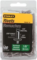 STANLEY® ALUMINUM RIVETS 1/8 IN. X 1/2 IN., 100 PACK