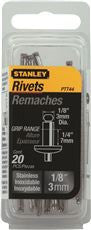 SS RIVETS 1/8 INX 1/4 IN,20 PACK