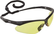 V30 NEMESIS SAFETY GLASSES,BLK FRAME,AMBER LENS