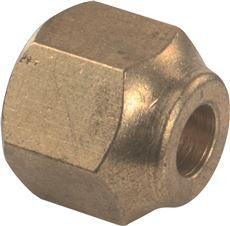 BRASS FL NUT FORGED 3/8 IN