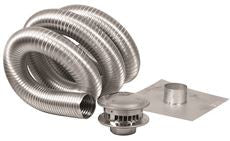 GAS VENT TYPE B, 4 INX35 FT CHIMNEY KIT