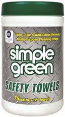 SIMPLE GREEN® SAFETY TOWELS® CANISTER, 75 COUNT