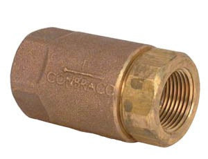 "1 1/4"" bronze ball cone check valve APOLLO"