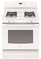 GE® 30-INCH 4.8 CU.FT.FREE STANDING GAS RANGE,WHITE