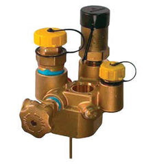 "2-1/2"" FPT UG Brass Tank Valve with acme fill, no check lock"
