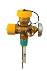 "3/4"" MPT 1 3/4 acme cyl combo valve 11.6"" DT up to 200 lb."