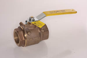 "1 1/4"" Apollo full port bronze ball valve"