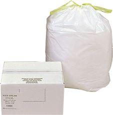 CAN LINER TRASH BAGS,24 INX 27 IN,13 GAL.,.6MIL
