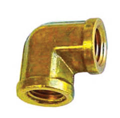 1/4 90 deg elbow brass