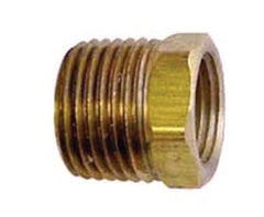 1/2 X 3/8 bushing hex brass Cast
