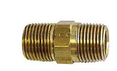 1/4 X 1/4 hex nipple brass