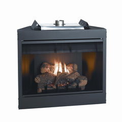 "34"" Keystone Deluxe B Vent NG Fireplace, Flush Face, 21M BTU"