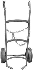Metal hand truck cylinder cart with chain for 100 lb cylinder