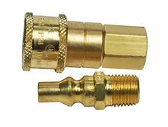 "CONNECTOR-QUICK 1/4"" MPT X FPT FULL FLOW ML PLG"