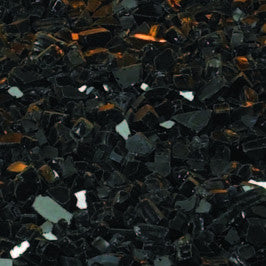 Decorative Glass Black Crushed Polished, covers 1 sq foot