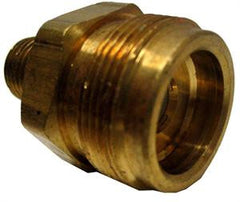 "1/4 MPT x 1"" #20 Male fitting with check valve and O ring"