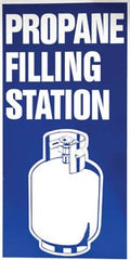 "2' x 4' Aluminum single faced ""PROPANE FILLING STATION"""