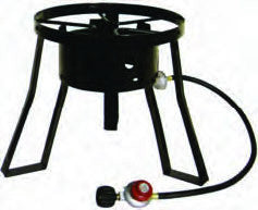 "15"" Gas Cooker Stand, burner hose"