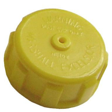 "1 1/4"" acme plastic cap with 3/4' Metal ring and chain"