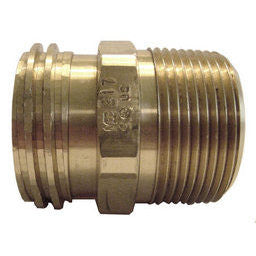 1 1/4 M acme X 3/4 MPT and 3/8 FPT adaptor brass ** ME **