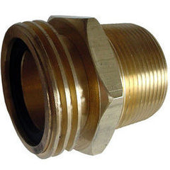 "2 1/4 M acme x 1 1/2 MPT and 1"" FPT brass adaptor"