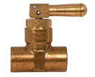 1/2 FPT x 1/4 FPT Quick acting hose end toggle valve